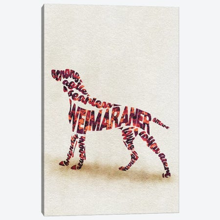 Weimaraner Canvas Print #ADA56} by Ayse Deniz Akerman Art Print