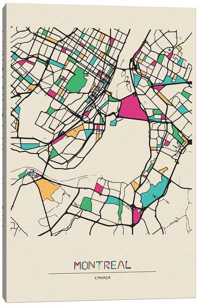 Montreal, Canada Map Canvas Art Print