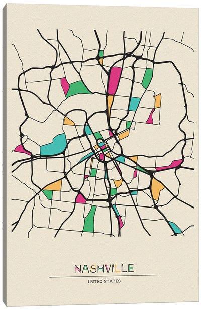Nashville, Tennessee Map Canvas Art Print