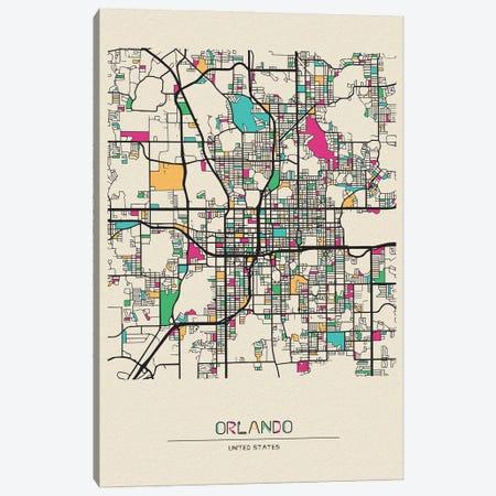 Orlando, Florida Map Canvas Print #ADA592} by Ayse Deniz Akerman Canvas Print