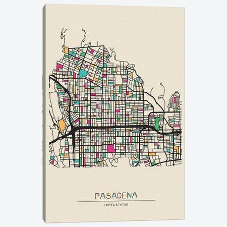 Pasadena, California Map Canvas Print #ADA601} by Ayse Deniz Akerman Art Print