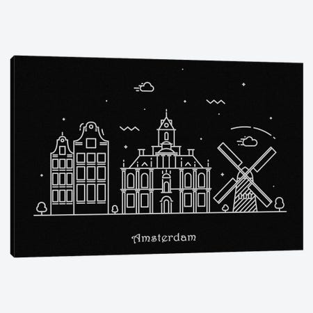 Amsterdam Canvas Print #ADA60} by Ayse Deniz Akerman Art Print