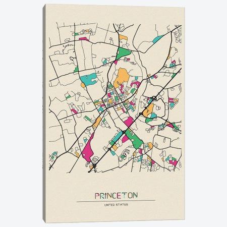 Princeton, New Jersey Map Canvas Print #ADA615} by Ayse Deniz Akerman Art Print