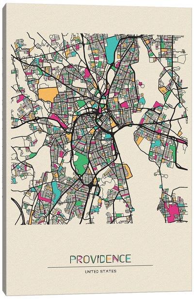 Providence, Rhode Island Map Canvas Art Print