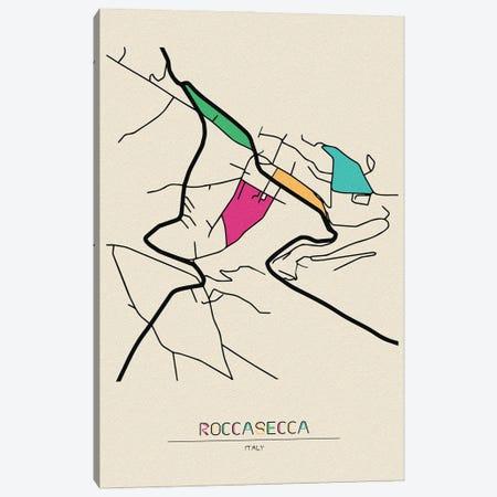 Roccasecca, Italy Map Canvas Print #ADA629} by Ayse Deniz Akerman Canvas Print