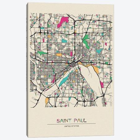 Saint Paul, Minnesota Map Canvas Print #ADA633} by Ayse Deniz Akerman Canvas Wall Art