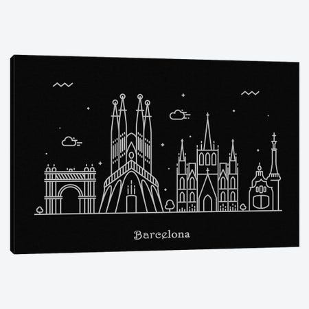 Barcelona 3-Piece Canvas #ADA63} by Ayse Deniz Akerman Canvas Art Print