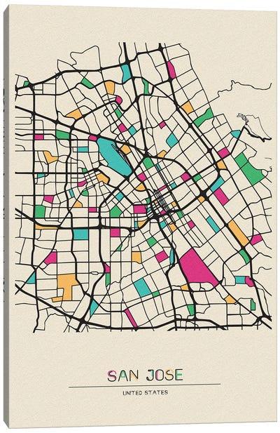 San Jose, California Map Canvas Art Print