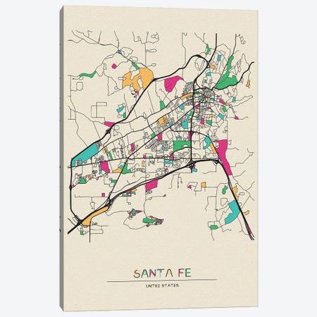 Santa Fe, New Mexico Map Canvas Print #ADA646} by Ayse Deniz Akerman Canvas Art