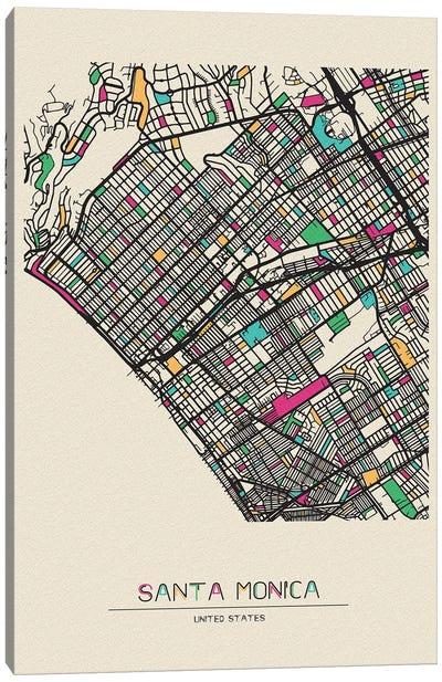 Santa Monica, California Map Canvas Art Print