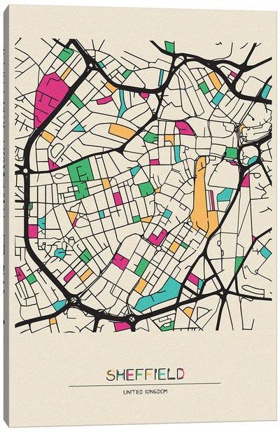 Sheffield, England Map Canvas Art Print