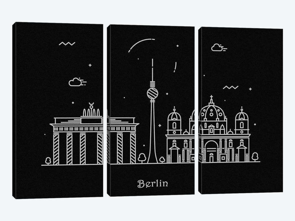 Berlin by Ayse Deniz Akerman 3-piece Canvas Artwork