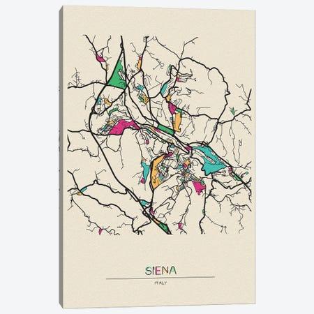 Siena, Italy Map Canvas Print #ADA661} by Ayse Deniz Akerman Art Print