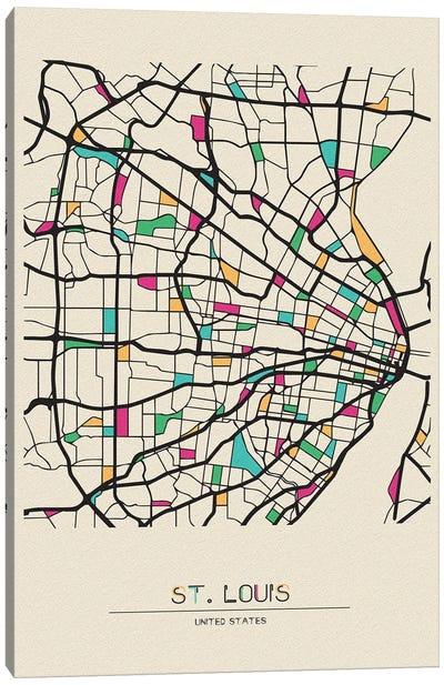 St. Louis, Missouri Map Canvas Art Print