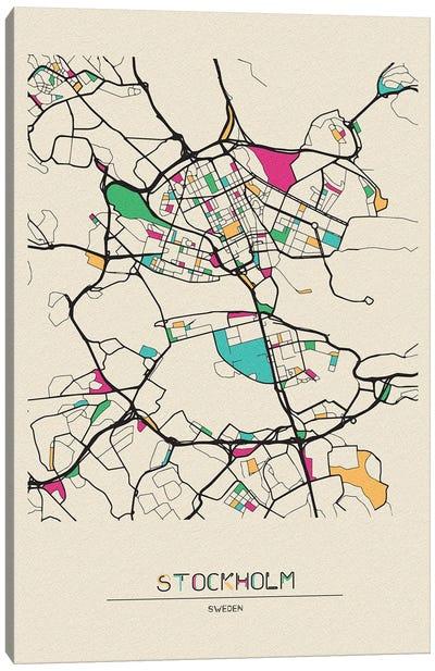 Stockholm, Sweden Map Canvas Art Print