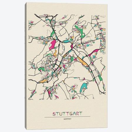 Stuttgart, Germany Map Canvas Print #ADA671} by Ayse Deniz Akerman Canvas Wall Art