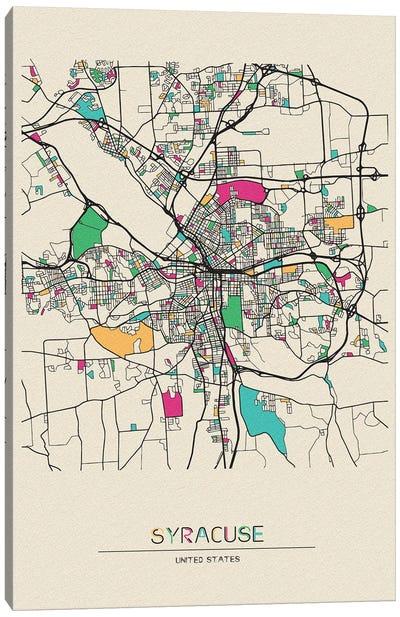 Syracuse, New York Map Canvas Art Print