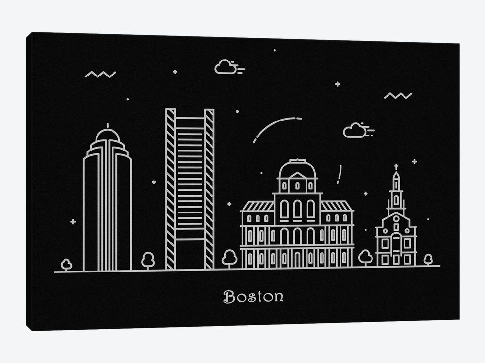 Boston by Ayse Deniz Akerman 1-piece Canvas Wall Art