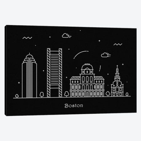 Boston Canvas Print #ADA67} by Ayse Deniz Akerman Canvas Artwork