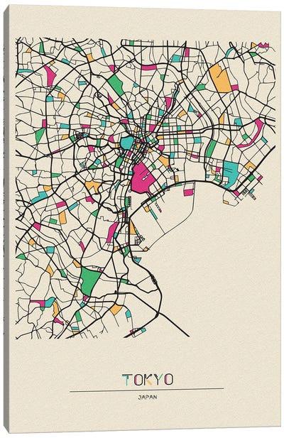 Tokyo, Japan Map Canvas Art Print