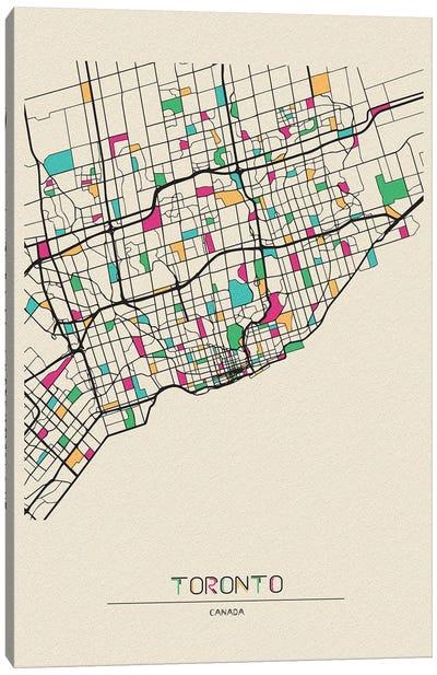 Toronto, Canada Map Canvas Art Print