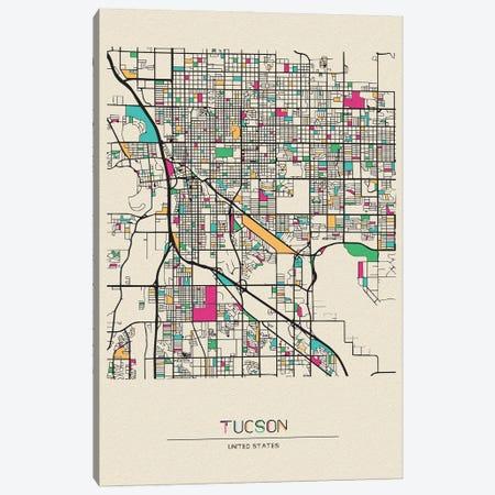 Tucson, Arizona Map Canvas Print #ADA695} by Ayse Deniz Akerman Canvas Art Print