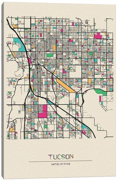 Tucson, Arizona Map Canvas Art Print