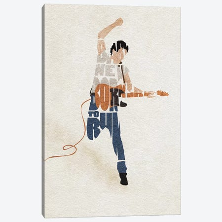 Bruce Sprinsteen Canvas Print #ADA69} by Ayse Deniz Akerman Art Print
