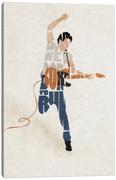 Bruce Sprinsteen Canvas Art Print
