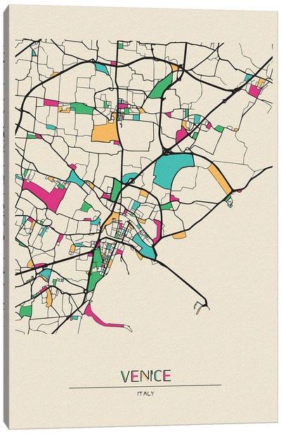 Venice, Italy Map Canvas Art Print