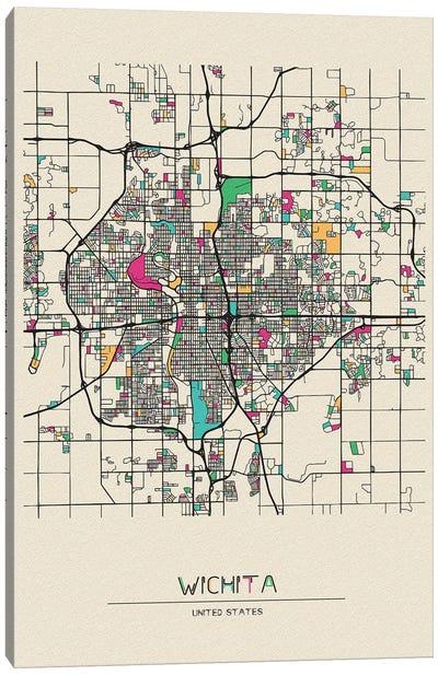Wichita, Kansas Map Canvas Art Print