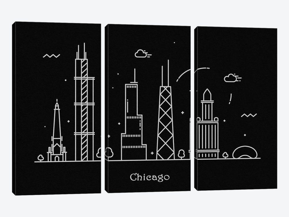 Chicago by Ayse Deniz Akerman 3-piece Art Print