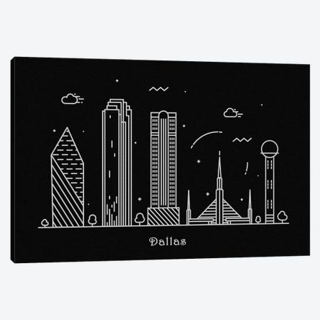 Dallas Canvas Print #ADA73} by Ayse Deniz Akerman Canvas Wall Art