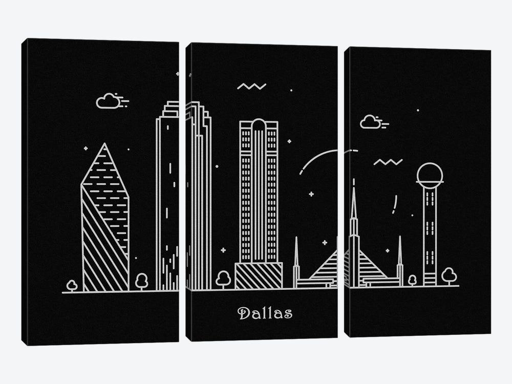 Dallas by Ayse Deniz Akerman 3-piece Canvas Print