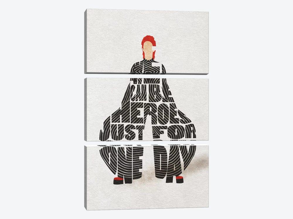 David Bowie by Ayse Deniz Akerman 3-piece Canvas Artwork