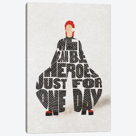 David Bowie Canvas Print #ADA74} by Ayse Deniz Akerman Art Print