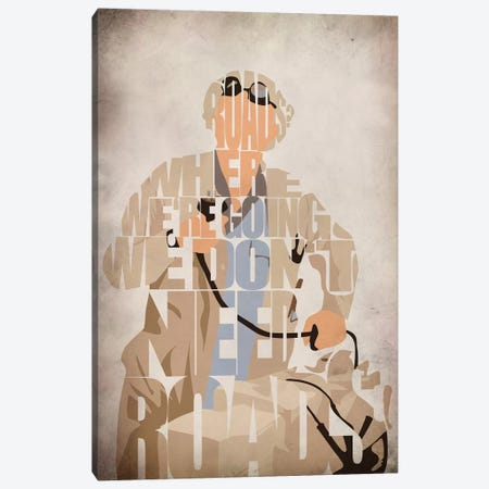 Doc Brown Canvas Print #ADA76} by Ayse Deniz Akerman Canvas Art Print