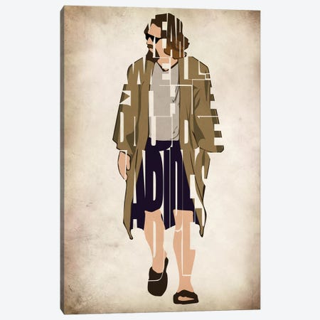 Dude Abides Canvas Print #ADA77} by Ayse Deniz Akerman Canvas Art Print