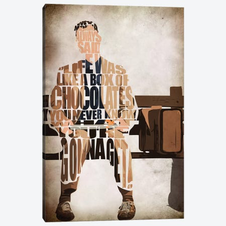 Forrest Gump Canvas Print #ADA81} by Ayse Deniz Akerman Canvas Print