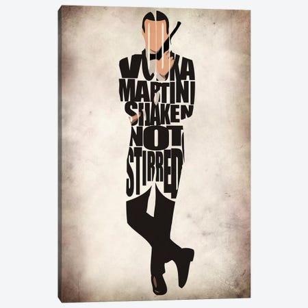 James Bond Canvas Print #ADA84} by Ayse Deniz Akerman Canvas Wall Art