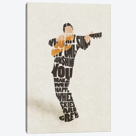 Johnny Cash Canvas Print #ADA85} by Ayse Deniz Akerman Canvas Art