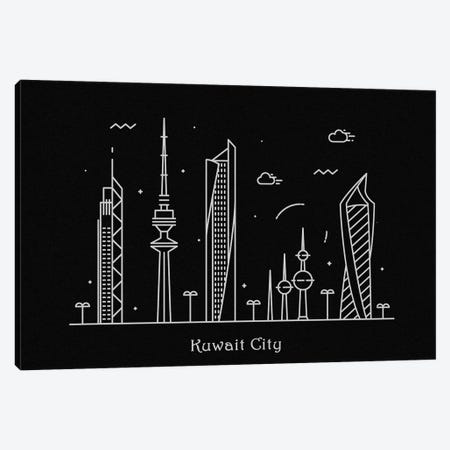 Kuwait Canvas Print #ADA86} by Ayse Deniz Akerman Canvas Wall Art