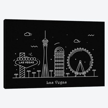 Las Vegas Canvas Print #ADA89} by Ayse Deniz Akerman Art Print
