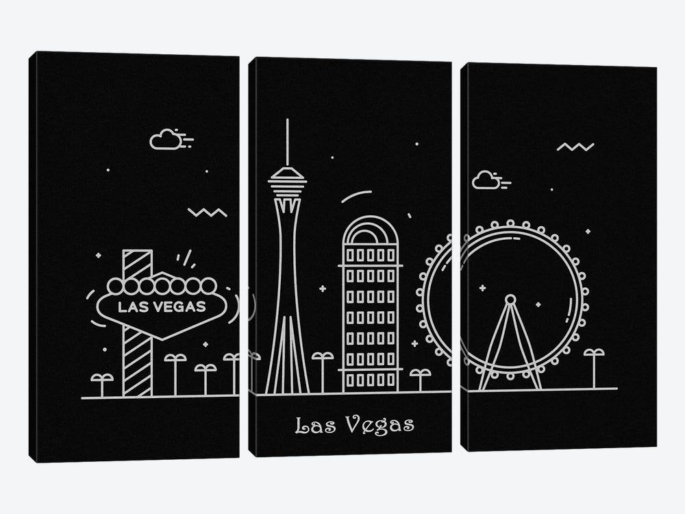 Las Vegas by Ayse Deniz Akerman 3-piece Canvas Artwork