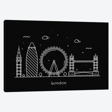 London Canvas Print #ADA91} by Ayse Deniz Akerman Canvas Artwork