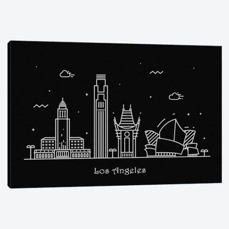 Los Angeles Canvas Print #ADA93} by Ayse Deniz Akerman Canvas Artwork