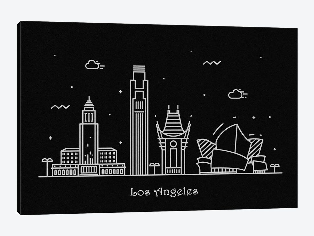Los Angeles 1-piece Canvas Art Print