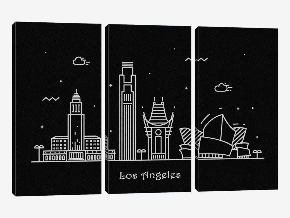 Los Angeles by Ayse Deniz Akerman 3-piece Art Print