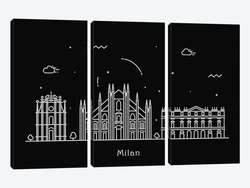 Milan by Ayse Deniz Akerman 3-piece Canvas Wall Art