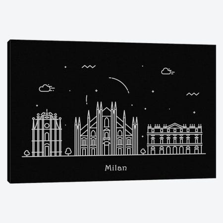 Milan Canvas Print #ADA96} by Ayse Deniz Akerman Canvas Art Print